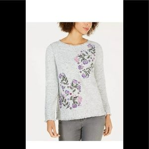 Style & Co Women's Embroidered Fringed T